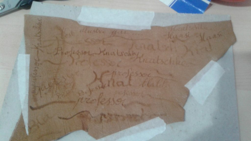 Essais de titrage manuscrit