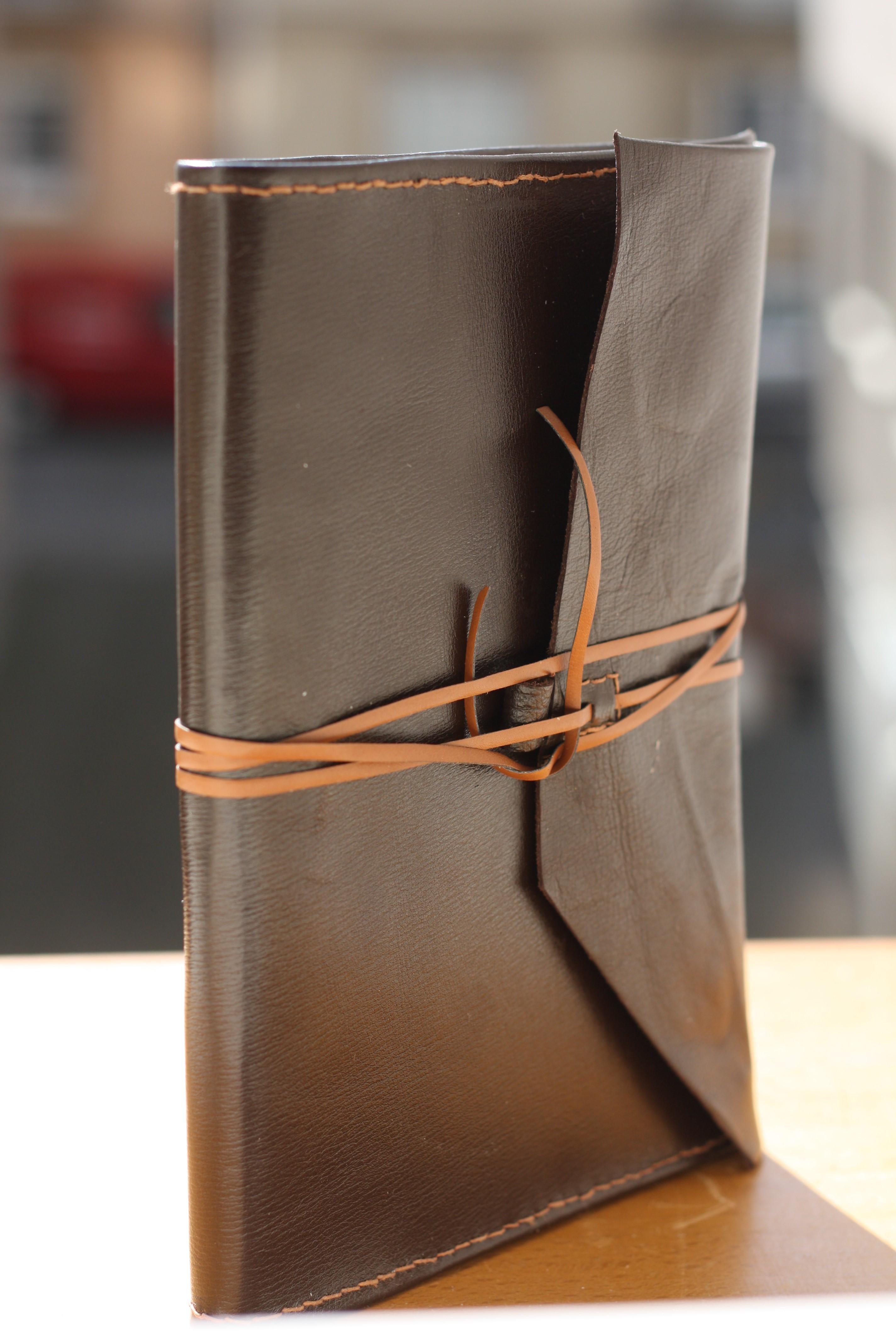 Agenda reliure souple cuir amovible