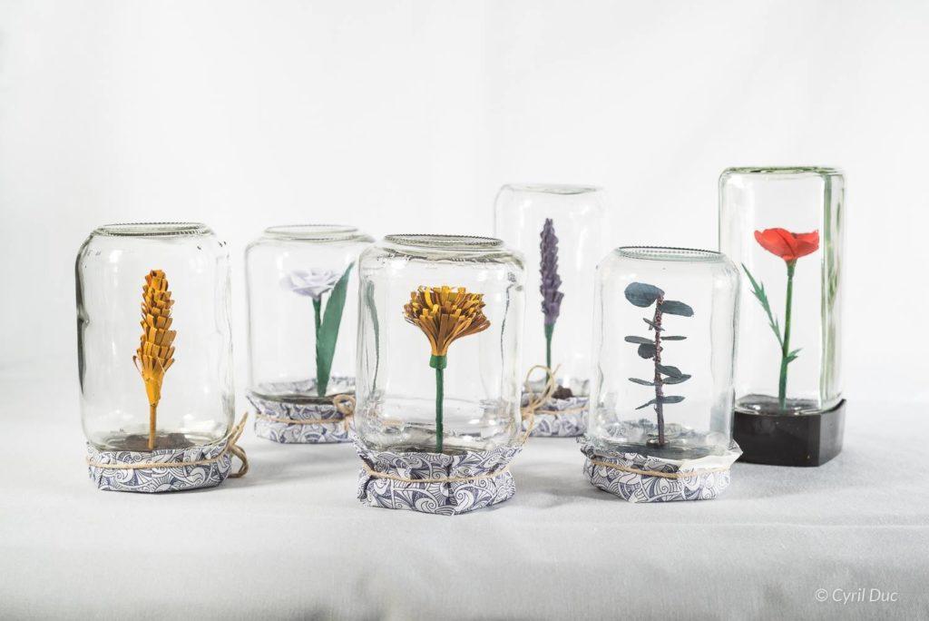 Fleurs de papier par L.MChardon